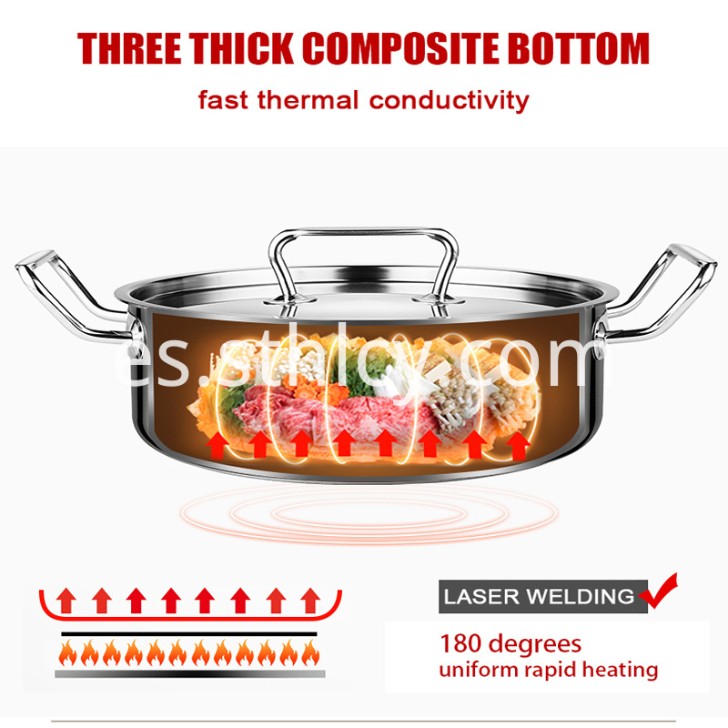 Wholesale Insulated Leakproof Stockpot Stainless Steel Clear 1
