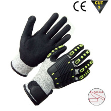 Cut and TPR Impact Resistant Hand Protection Work Safety Gloves