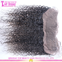 Qingdao Lieferant chinesische Echthaar Spitze frontalen Haarteil