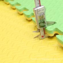 Motif de feuille de couleur verte 1mX1m Taekwondo Tatami mat