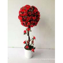 Небольшой бонсай украшения дома цветок розы мяч