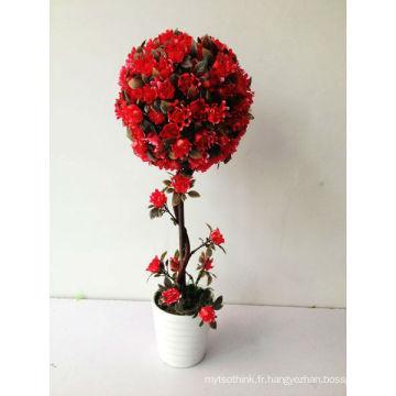 Petit bonsaï décoration de la maison rose boule de fleurs