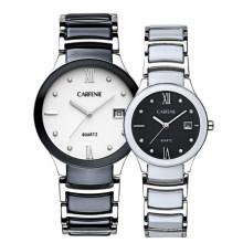 Reloj de pulsera de cuarzo de moda casual de las mujeres de cerámica artificial pulsera de la caja pulsera elegante relojes
