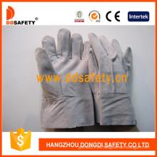 Guante de soldador de piel dividida de vaca natural (DLW603)