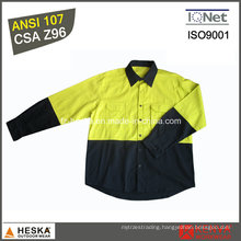 CSA Z96 Long Sleeve Work Shirt Cotton Hi Viz Shirt