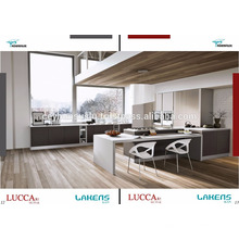 Grau Industrie furniert neue Generation Luxus Küche Kabinett mit angenehmen Preis