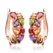 Vergoldet einzigartige Ohrstecker Multicolor