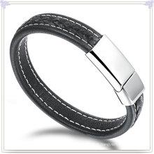 Pulseira de couro jóias de couro para jóias charme (lb428)