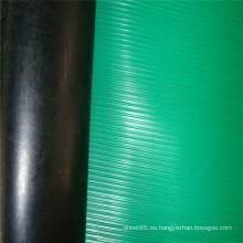 Hoja de goma antideslizante con respaldo antideslizante y respaldo negro