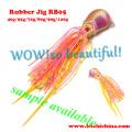 Jig de borracha colorida de alta qualidade por atacado de alta qualidade