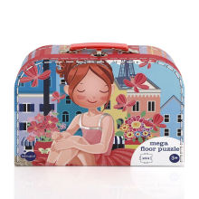 High quality key storage lock suitcase box red kids girl cute suitcase gift box