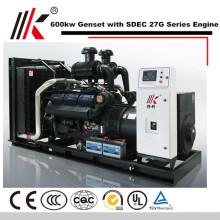 GENERADOR SILENCIOSO DE 6 MW CON MOTOR DIESEL SHANGHAI CO LTD 600KW GENSET