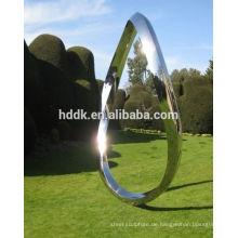 Garten-oder Yard-Skulptur des rostfreien Stahls endlose Kurve