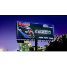 Lado de aço inoxidável da propaganda da estrada ambo ou caixa leve iluminada magro do diodo emissor de luz do alumínio