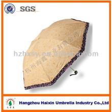 Mode aus Polyester Geschenk 3 Falten Regenschirm zum Verkauf