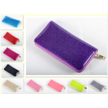 Guangzhou Suppliers Bling Women Candy Color Purse Jelly Womens Purses (J-894)