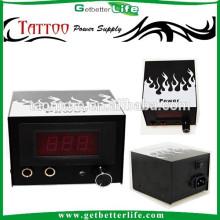 Getbetterlife LCD Dual Digital fuego blanco CE mejor tatuaje fuente de alimentación