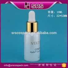 SRS high quality glass essential oil bottle , 10ml cosmetic liquid dropper bottles