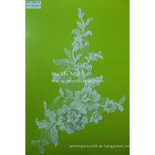 Stickerei Perlen Spitze Stoff weiß Braut Hochzeit Spitze Stoff CMC011B