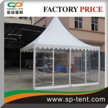 Tente de pagode transparente de 5 m par 5 m pour tente de fête extérieure