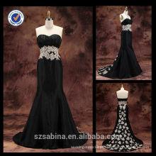 E0126 Elegante chiffon baratos vestidos de sereia de sereia longa