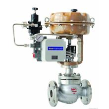 soupape de contrôle de gaz à membrane à bride de haute qualité avec pneumatique