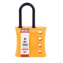 BD-K46 Shackle 6mm Diameter Nylon Top Security Lock, bloqueio de segurança