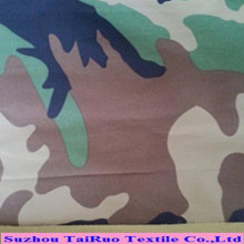 Camouflage Printed Taslon with PU Coated for Sportswear Fabric