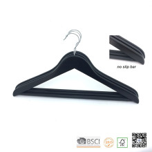 Black Non Slip Bar Wooden Clothes Top Coat Hanger