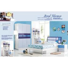 Crianças azuis Kd mobília, mobília do quarto do MDF (L123)