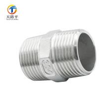 Tornillería de rosca doble de accesorios de tubería recta de alta calidad