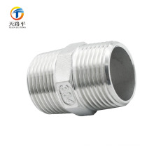 High Quality Straight pipe fittings double thread screw