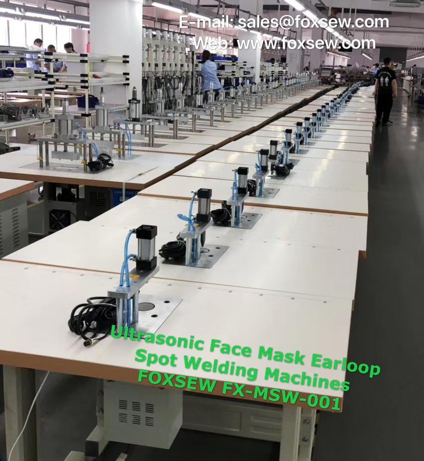 Ultrasonic Face Mask Earloop Spot Welding Machines FOXSEW FX-MSW-001 (2)