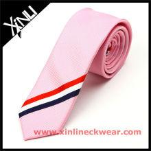 New Silk Tie Black and White Stripe