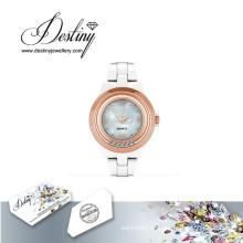 Destino joias cristal de Swarovski Hip relógio