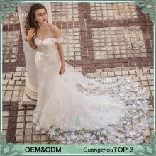 2016 new model mermaid cheap off shoulder wedding dress for bridal