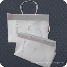 Saco de compras de plástico personalizado para presentes ou luxos
