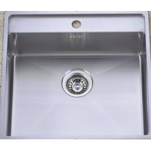 Alta calidad de acero inoxidable lavabo hecho a mano cocina lavabo (khs2021)