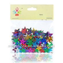 lantejoulas de estrelas pequenas coloridas