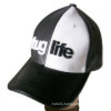 Leather Cap in 2 Tone with Embroidery (LT-3)