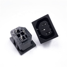 C13 ac Power Socket 250V 10A Screw In PCB Inlet Panel Chassis Mount Connector JEC JR-121S