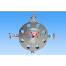 Из нержавеющей стали Двв шариковый клапан с ISO5211 Верхний Фланец для газа воды