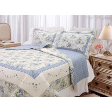 Home Design Comfortable Patchwork Cotton Printing Bedding Quilt (WSPQ-2016008)
