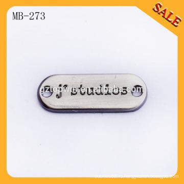 MB273 Изготовление швейных металлических этикеток и этикеток для одежды из меди с черной краской