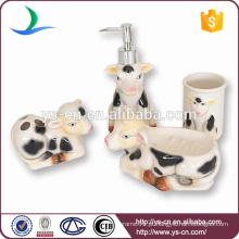 2014 Lovely leite de vaca cerâmica Baby Set banheiro