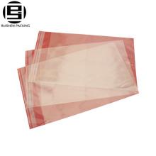 Bolsa de embalaje adhesiva transparente recerrable transparente