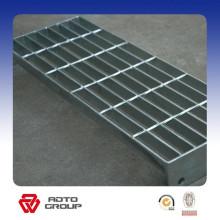 Grille de plate-forme galvanisée avec plaque de protection