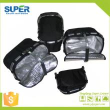 Fabricante de la cesta de la comida campestre del poliéster del marco de aluminio con la manija (SP-312)