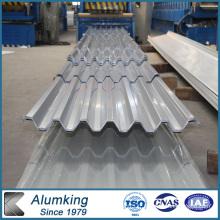 1050/1070/1200/1100/1235 Plaque en tôle d'aluminium ondulé pour toiture