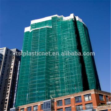 Red de seguridad durable del andamio para la protección de edificios de gran altura